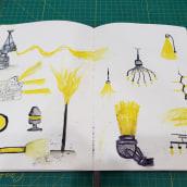 Mi Proyecto del curso: Técnicas de ilustración para desbloquear tu creatividad. Un proyecto de Diseño, Ilustración, Bellas Artes, Pintura, Creatividad, Creatividad con niños y Sketchbook de Juan Mantilla - 13.06.2021