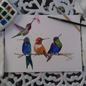 Fim de tarde. A Watercolor Painting project by Debora Peres - 06.13.2021
