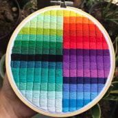 Estudio de color (cuadrados). A Stickerei project by Coricrafts - 12.06.2021