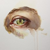 Paint an Eye with me!. A Illustration, Education, Fine Art, Painting, Street Art, Creativit, Watercolor Painting, Portrait illustration, Portrait Drawing, Realistic drawing, Artistic drawing, Oil painting, and Figure drawing  project by Michele Bajona - 06.14.2021