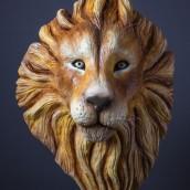 Escultura comestible de un león en chocolate moldeable. Un projet de Sculpture, Créativité , et Modélisation 3D de Marc Suárez Mulero - 15.06.2021