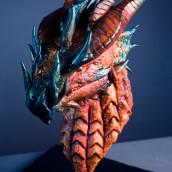 Escultura en chocolate de un dragón. Un projet de Sculpture, Créativité , et Modélisation 3D de Marc Suárez Mulero - 15.06.2021