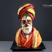Escultura comestible en chocolate de un hombre de Varanasi, India. Un projet de Sculpture, Créativité , et Modélisation 3D de Marc Suárez Mulero - 15.06.2021