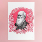 Charles Darwin . A Illustration, Portrait illustration, Ink Illustration, and Naturalist Illustration project by Philip Harris - 10.04.2017