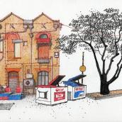 URBAN SKETCHES 2021/1. Un proyecto de Ilustración, Arte urbano y Bocetado de Alan Innes - 18.06.2021