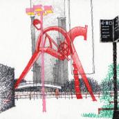 URBAN SKETCHES 2020/2. Un proyecto de Ilustración, Bocetado, Dibujo a lápiz, Dibujo y Dibujo artístico de Alan Innes - 10.12.2020