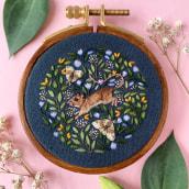 Field Mouse. Un proyecto de Ilustración y Bordado de Chloe Giordano - 18.06.2021