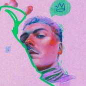 Icono. A Illustration, Portrait illustration, Digital Drawing, and Digital Painting project by Elena Garnu - 05.12.2021
