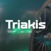 Triakis Font Family. Un proyecto de Motion Graphics, 3D, Diseño gráfico y Tipografía de bydani - 21.06.2021