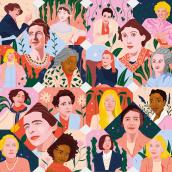 Mujeres en la literatura - Portada Lire Magazine Littéraire. A Illustration, Editorial Illustration, and Editorial Design project by Gisele Murias - 06.23.2021