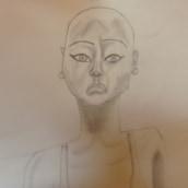 Retratos de Kesh. Un proyecto de Diseño de personajes, Dibujo a lápiz, Dibujo, Dibujo de Retrato, Dibujo realista, Dibujo artístico y Dibujo anatómico de Elena García - 23.07.2021