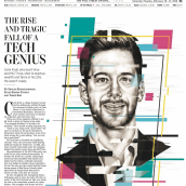 Wall Street Journal. A Illustration, Editorial Design, Pencil drawing, Portrait illustration, Portrait Drawing, Realistic drawing, Ink Illustration, and Editorial Illustration project by Paul Ryding - 04.02.2019