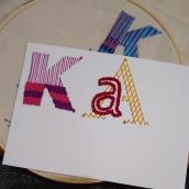 Mi Proyecto del curso: Letras bordadas: el hilo como herramienta gráfica. Um projeto de Bordado e Ilustração têxtil de Ana Karina Moreno - 25.06.2021