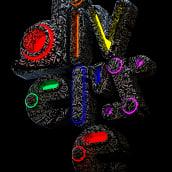 D I V E R S E lettering  #creaconorgullo. A 3-D, Kunstleitung, T, pografie, Lettering, 3-D-Design und 3-D-Lettering project by Erich Gordon - 28.06.2021