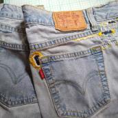 Mi Proyecto del curso: Bordado: reparación de prendas. Um projeto de Moda, Bordado, Costura, DIY, Upc e cling de Ana Karina Moreno - 28.06.2021