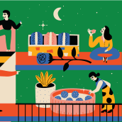 Illustration for Department store magazine. A Illustration, Character Design, and Editorial Design project by Adriana Quezada - 12.07.2019