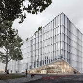 The Cloud. Un proyecto de 3D, Arquitectura, Postproducción, Modelado 3D, Ilustración arquitectónica y Visualización arquitectónica de Sonny Holmberg - 07.10.2017