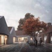 Ullerød Church. Un proyecto de 3D, Arquitectura, Postproducción, Modelado 3D, Ilustración arquitectónica y Visualización arquitectónica de Sonny Holmberg - 14.10.2019