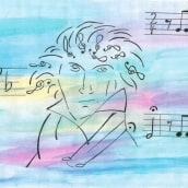 Ludwig van Beethoven. Un progetto di Illustrazione di Sylvia Haendschke - 02.07.2021