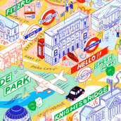 My project in Isometric Map Illustration: Capture a City's Vibrancy course. A Illustration, Infografik, Zeichnung, Digitale Illustration, Artistische Zeichnung und Digitale Malerei project by Jess Wilson - 02.07.2021