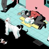 Mi Proyecto del curso: Ilustración editorial: crea una narrativa visual. A Editorial Illustration, and Digital illustration project by Laura Wächter - 05.15.2021