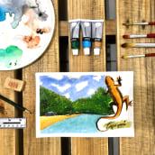 Mi Proyecto del curso: Cuaderno de viaje en acuarela. A Illustration, Aquarellmalerei, Architektonische Illustration und Sketchbook project by Ikoro - 04.07.2021