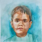Retrato en acuarela. Un projet de Beaux Arts, Peinture , et Aquarelle de Isabel Cristina Rengifo T. - 05.07.2021