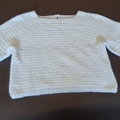 Mi Proyecto del curso:  Top-down: prendas a crochet de una sola pieza. Un proyecto de Moda, Diseño de moda, Tejido, DIY y Crochet de Ana Py - 05.07.2021