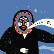 68 voces - Set of illustrations for animation about a folk tale from Sonora, Mexico.. A Illustration, Animation, Character Design, and Vector Illustration project by Adriana Quezada - 09.07.2017