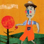 """Ilustração do conto popular """"Malasartes e o pé de casa"""". A Design, Illustration, Collage, Digital illustration, Children's Illustration, and Digital Design project by cassiaroriz - 07.07.2021"""