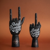 Palm Reading. A H, Lettering & Illustration project by Paola Vecco - 07.09.2021