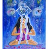 Mi Proyecto del curso: Ilustración con acrílico: crea universos mágicos. Um projeto de Ilustração, Pintura, Criatividade e Pintura Acrílica de Ana Karina Moreno - 10.07.2021