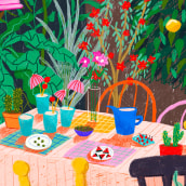 Paisajes de verano. A Illustration project by Gisele Murias - 07.12.2021