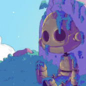 Popy - The forgotten robot . Um projeto de Design, Ilustração, Design de personagens, Desenho, Ilustração digital, Concept Art, Ilustração infantil, Desenho digital e Ilustração editorial de srta_acuarela - 14.07.2021