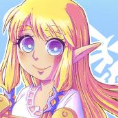 Zelda - TLOZ:SS. Um projeto de Design, Ilustração, Desenho, Ilustração digital, Videogames, Ilustração infantil, Desenho digital e Desenho mangá de srta_acuarela - 14.07.2021
