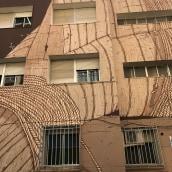 EDUCACIÓ PER LA PAU / ARTE MURAL. Um projeto de Ilustração, Instalações, Artes plásticas e Arte urbana de Justo Heras - 01.11.2017
