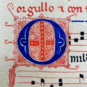 La escritura de Las Cantigas de Santa María. A Calligraph project by Arturo Rovira Roldan - 07.18.2021