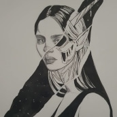 Inktober 2020. Un proyecto de Ilustración de Amparo Madera Albors - 19.07.2021