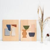 Collaboration with Seraphina Neville. Un progetto di Design, Illustrazione, Artigianato, Belle arti, Serigrafia , e Falegnameria  di Chelsea Vivash - 01.05.2021