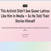 This Activist Didn't See Queer Latinos Like Him In Media — So He Told Their Stories Himself. A Schrift, Stor, telling, Kommunikation und Erzählung project by Eileen Truax - 08.03.2021
