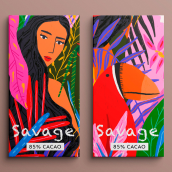 Savage packaging. A Illustration, and Design project by Gisele Murias - 07.21.2021