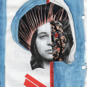 Self-portraits with mixed media ~ because that own face is always at hand :-). Un progetto di Belle arti di Ida Csapó - 26.07.2021