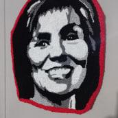 Mi Proyecto del curso:  Bordado con punch needle: pasa de la imagen al retrato. Un proyecto de Ilustración de retrato, Bordado e Ilustración textil de Roxana Andrea Román Cáceres - 10.07.2021