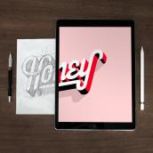 Digital Lettering. Um projeto de Lettering digital, Lettering e Tipografia de Matthieu TARRIN - 27.07.2021