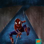 SPIDERMAN Fan Art. Um projeto de Ilustração, Design de personagens, Comic, Desenho, Ilustração digital, Desenho artístico e Desenho digital de Andrés Arboleda - 28.07.2021
