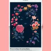 Spring - At Home Cover. Um projeto de Ilustração de Ana Miminoshvili - 28.07.2021