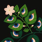 Blooming Eyes. Um projeto de Ilustração e Pintura digital de Ana Miminoshvili - 28.07.2021