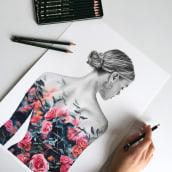 Mixed Media Artworks. Um projeto de Ilustração, Artes plásticas, Pintura, Criatividade, Desenho a lápis, Desenho, Pintura em aquarela, Ilustração de retrato, Desenho de Retrato, Desenho realista e Desenho artístico de Jessica Janik - 28.07.2021