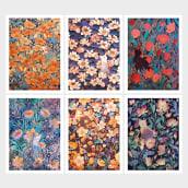 Colección Gatos y flores. Un projet de Illustration, Illustration numérique et Illustration textile de Roberto Nieto - 29.07.2021