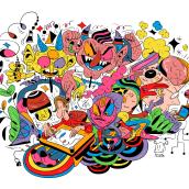 Projeto Autoral  Meus Demônios - 2021. Um projeto de Design, Ilustração, Publicidade, Ilustração digital e Ilustração editorial de Kleverson Mariano - 30.07.2021